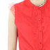 Red Front Knot Sleeveless Blouse