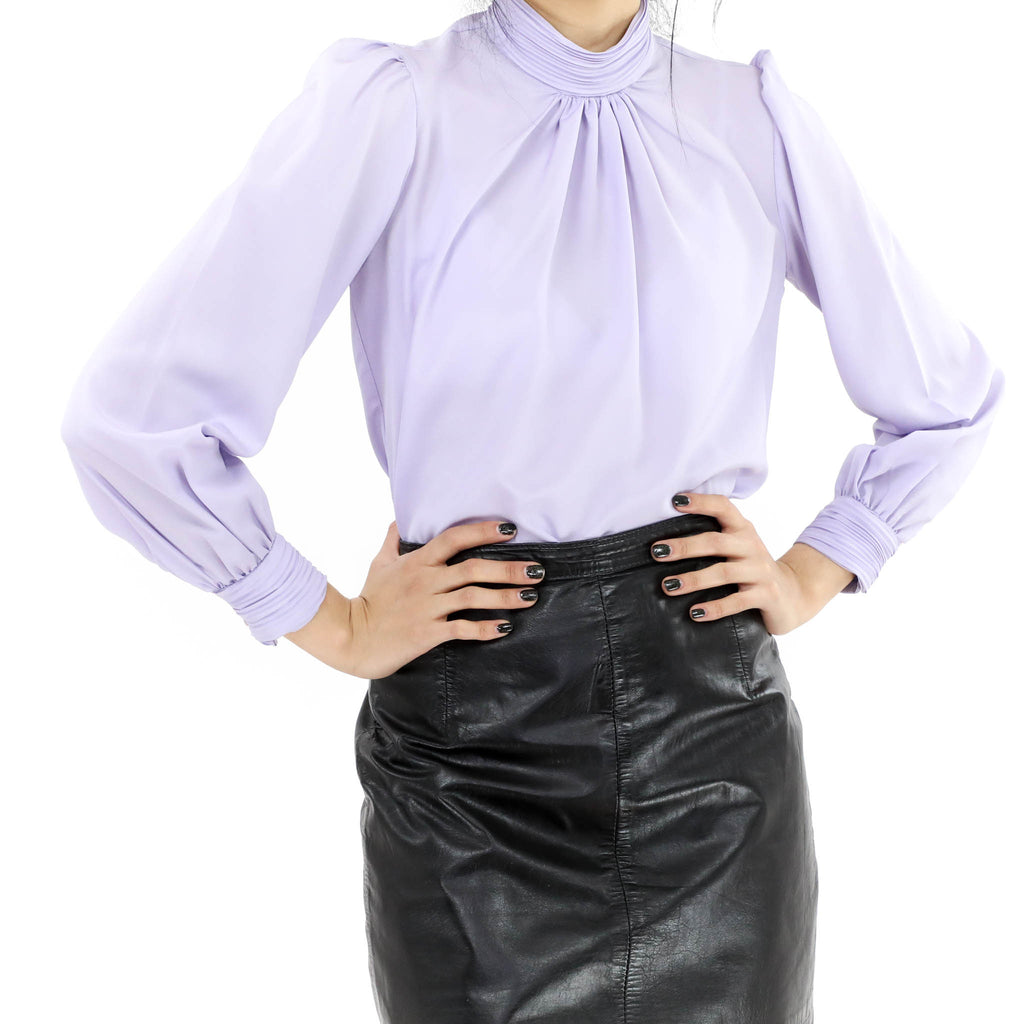 Lavender High Neck Blouse