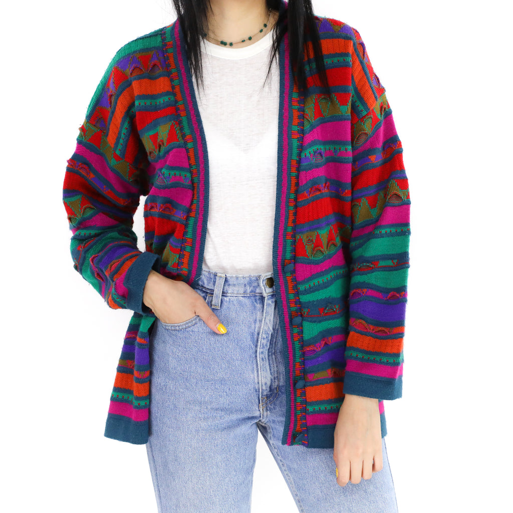Open Front Coogi Sweater