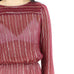 Burgundy & Gold Stripes Dress