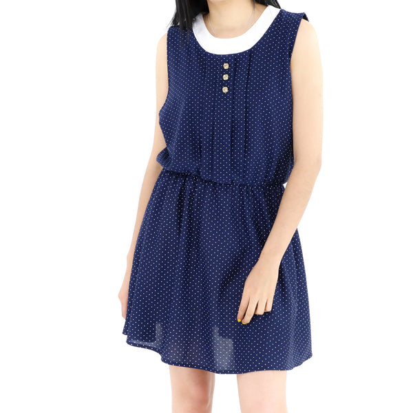 Blue Navy & Dots Dress