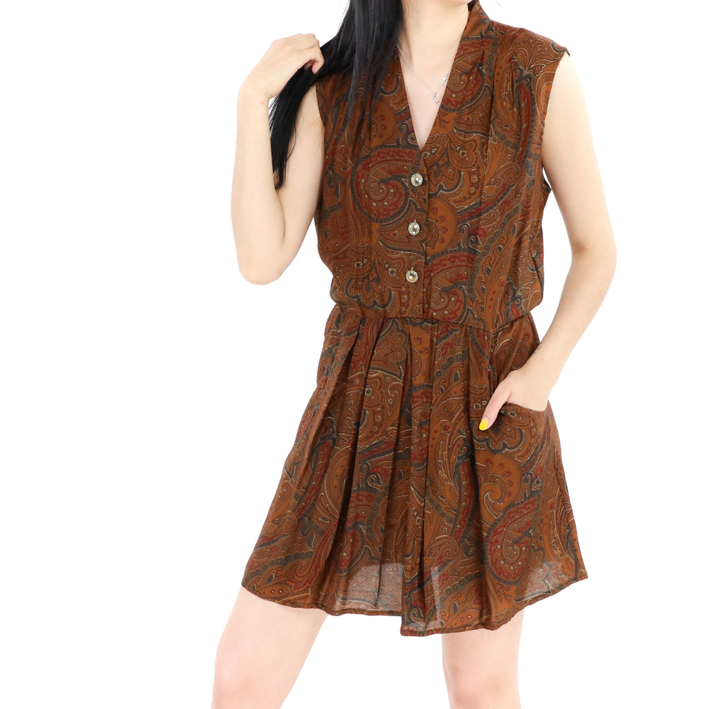 Terracota Paisley Dress