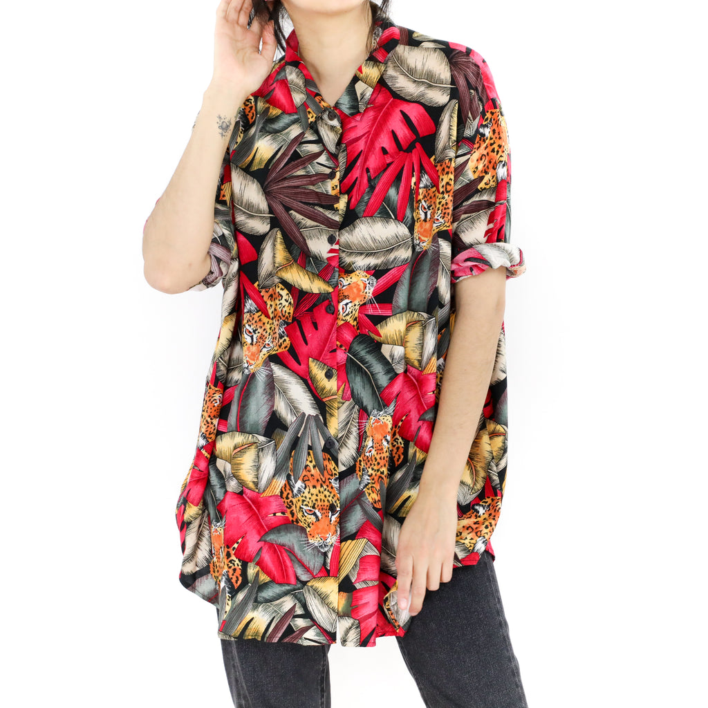 Cheetah in the Jungle Blouse
