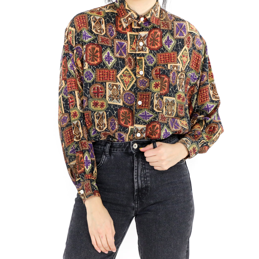Ornamental Print Blouse