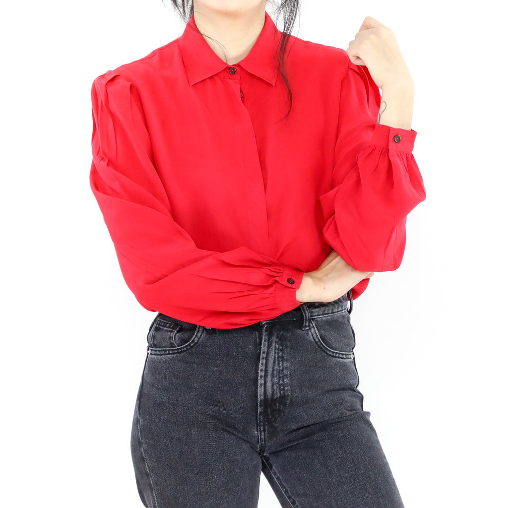 Plain Red Blouse
