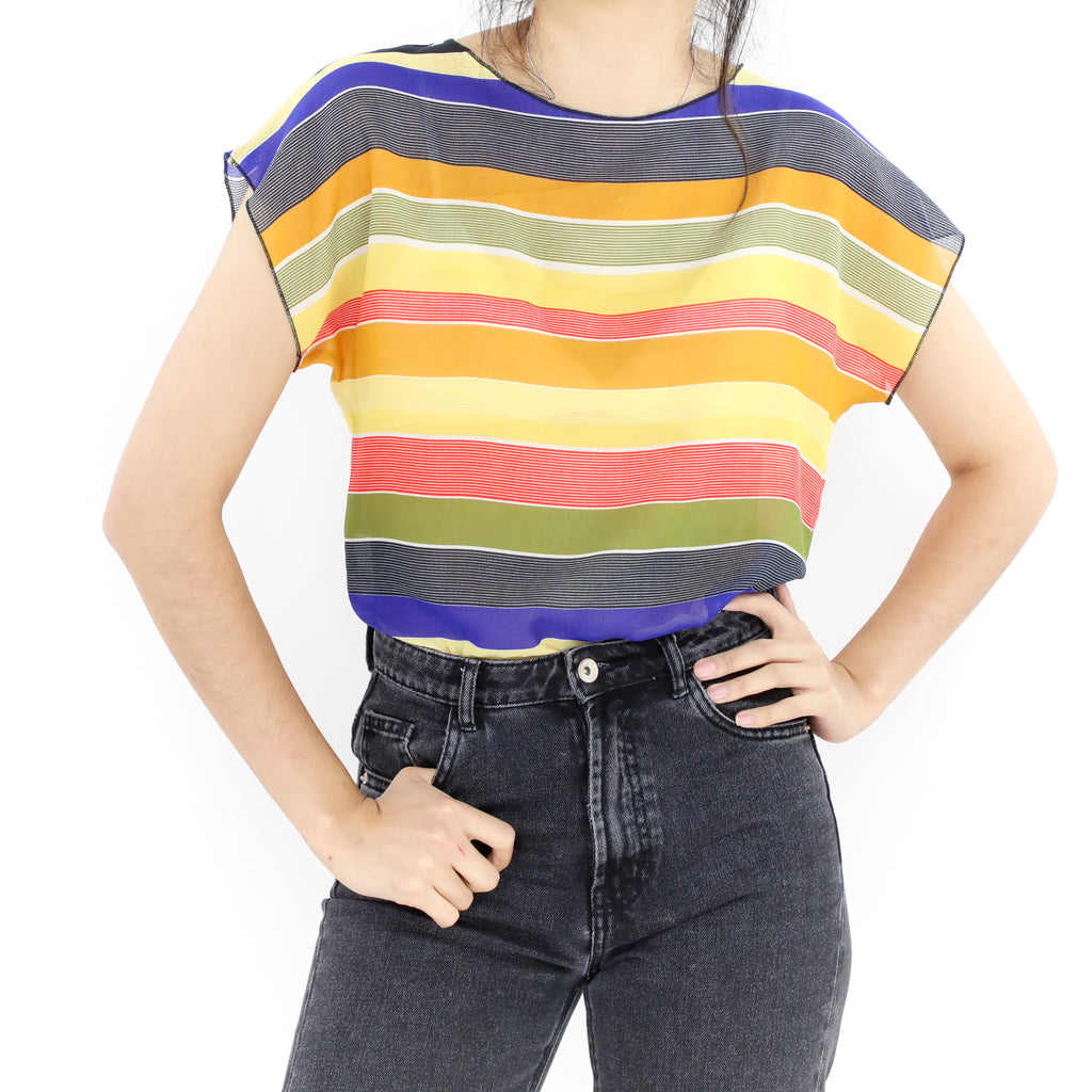 Sunset Stripes Blouse