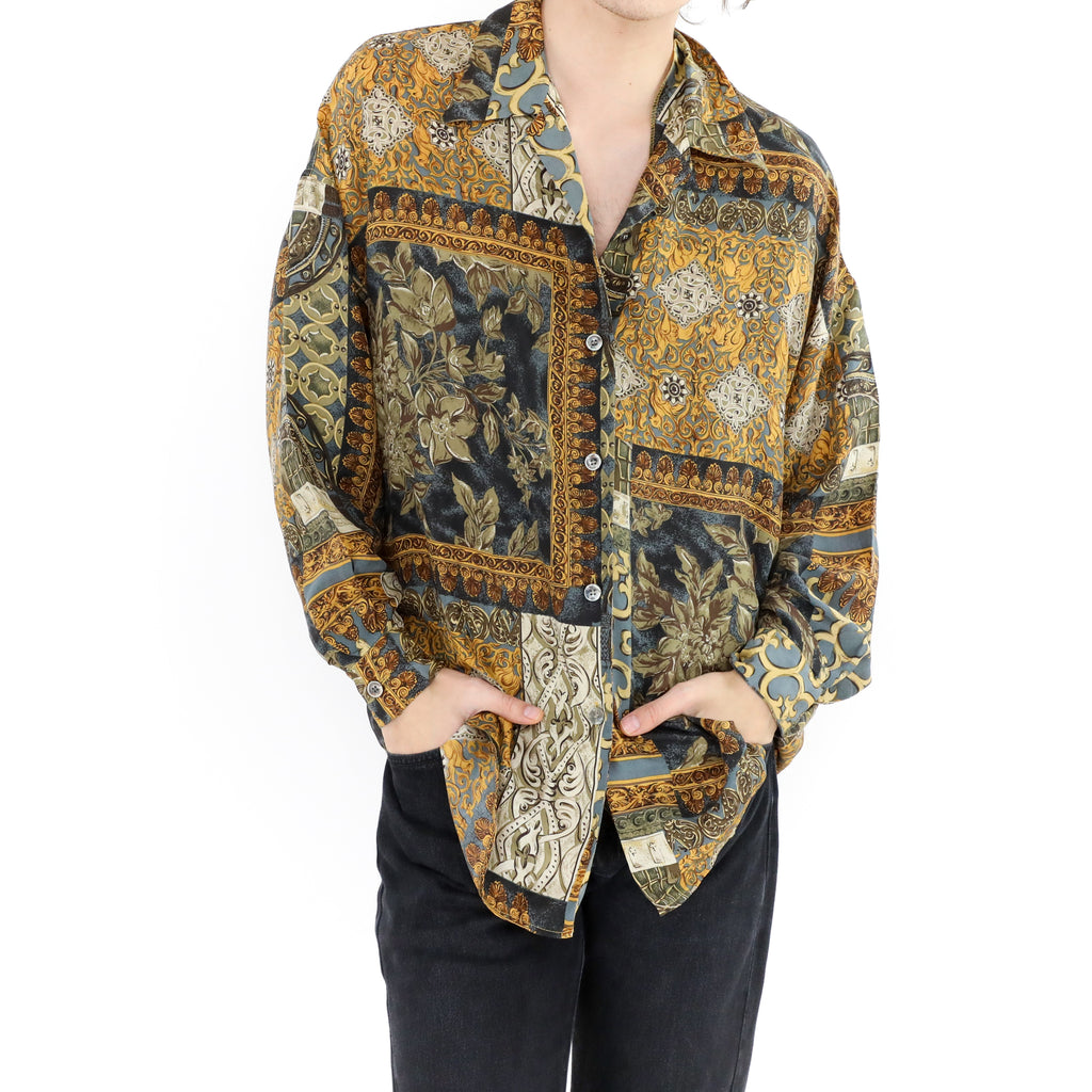Ornamental Silk Shirt