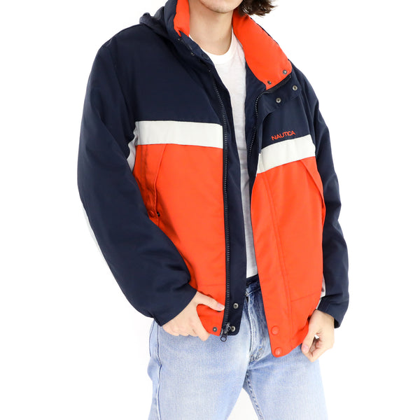 Orange & Blue Reversible Nautica Jacket