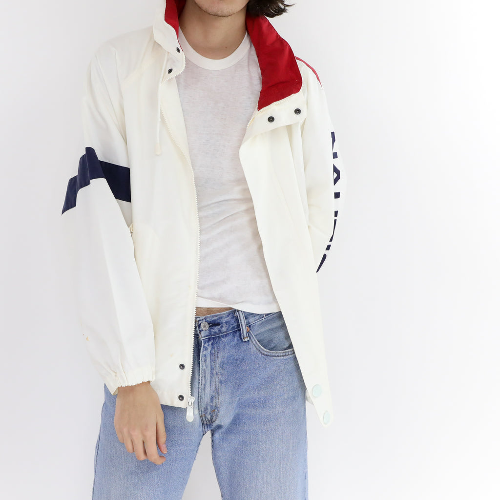 White Nautica Windbreaker
