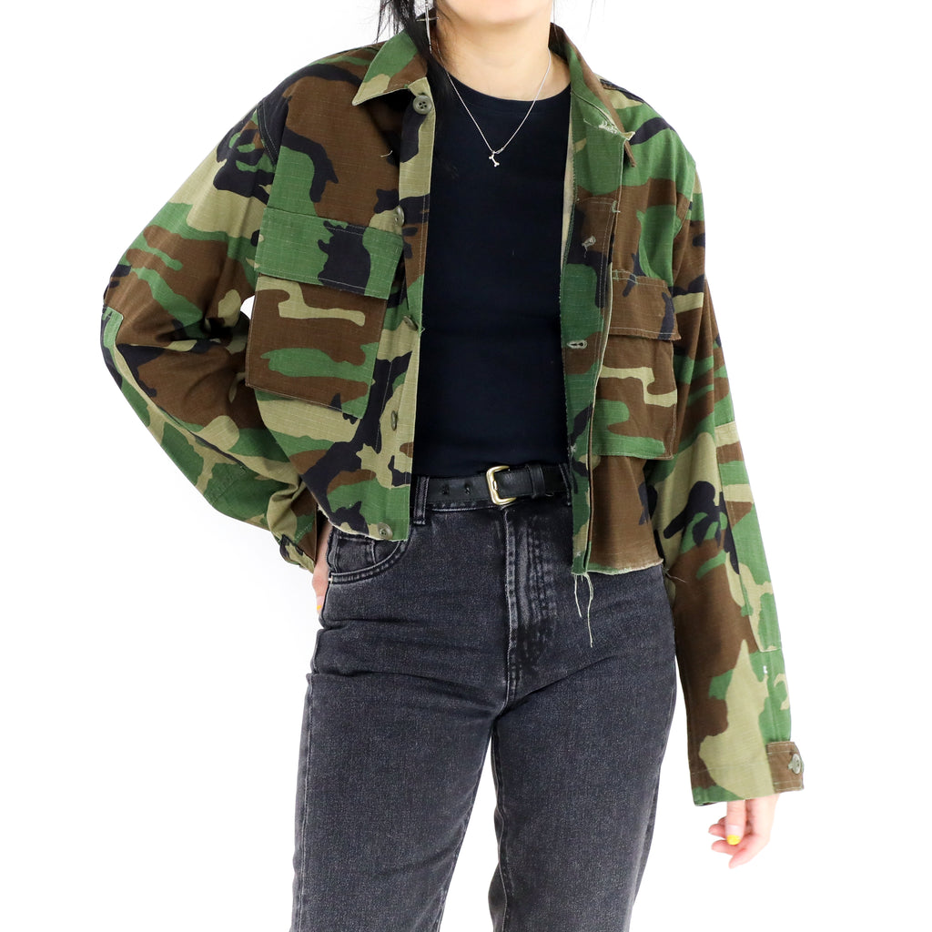 Dark Camo Cropped Jacket