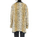 Reversible Cheetah Print Faux Fur Long Coat