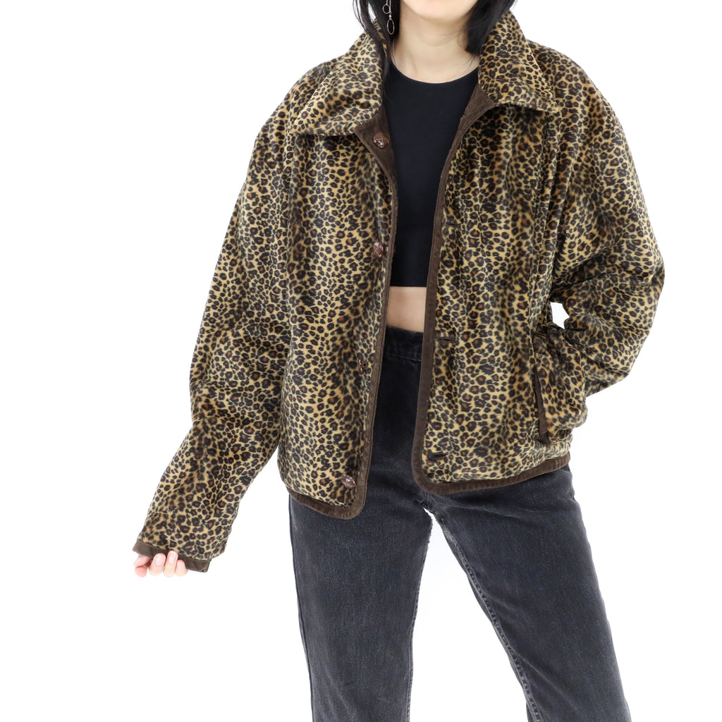 Reversible Suede and Leopard Print Jacket