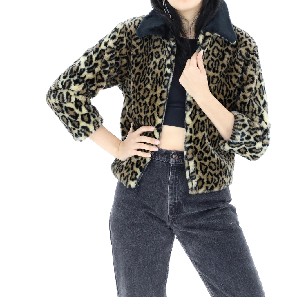 Wild Cat Faux Fur Jacket