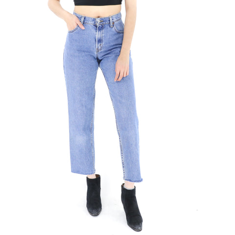 Levi's High Waisted Mid Wash Denim Jeans