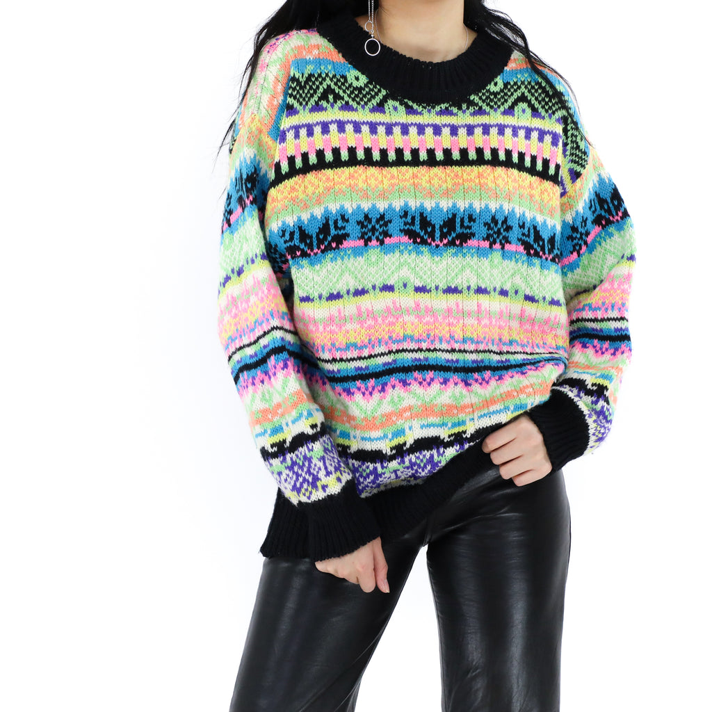 Neon Multicolor Sweater