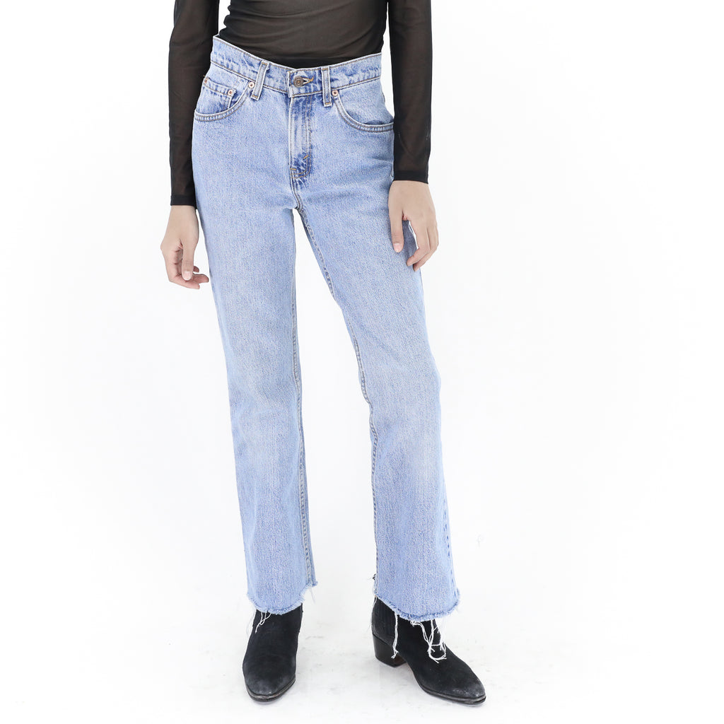 Levi's Cropped Denim Jeans