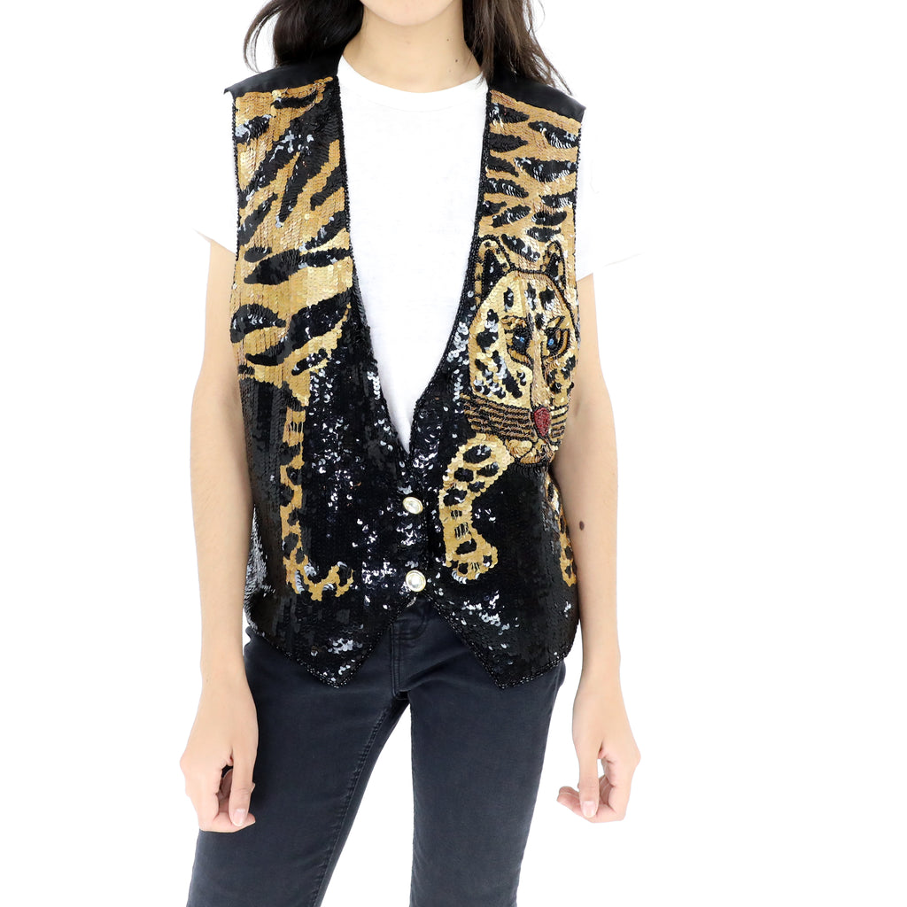 Tiger Sequin Vest