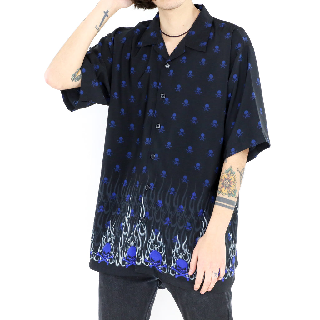 Blue Skull Short Sleeve Shirt