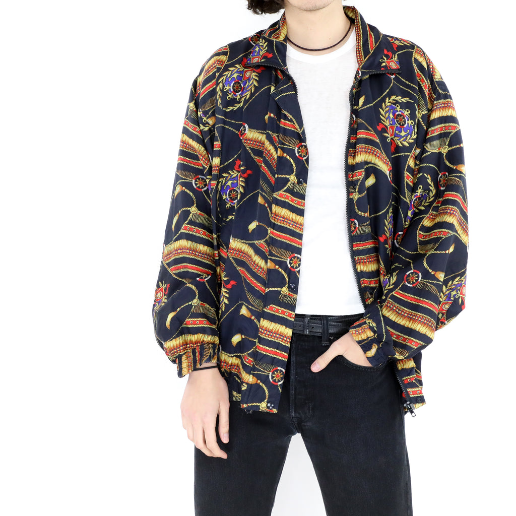 Navy Gold Bomber