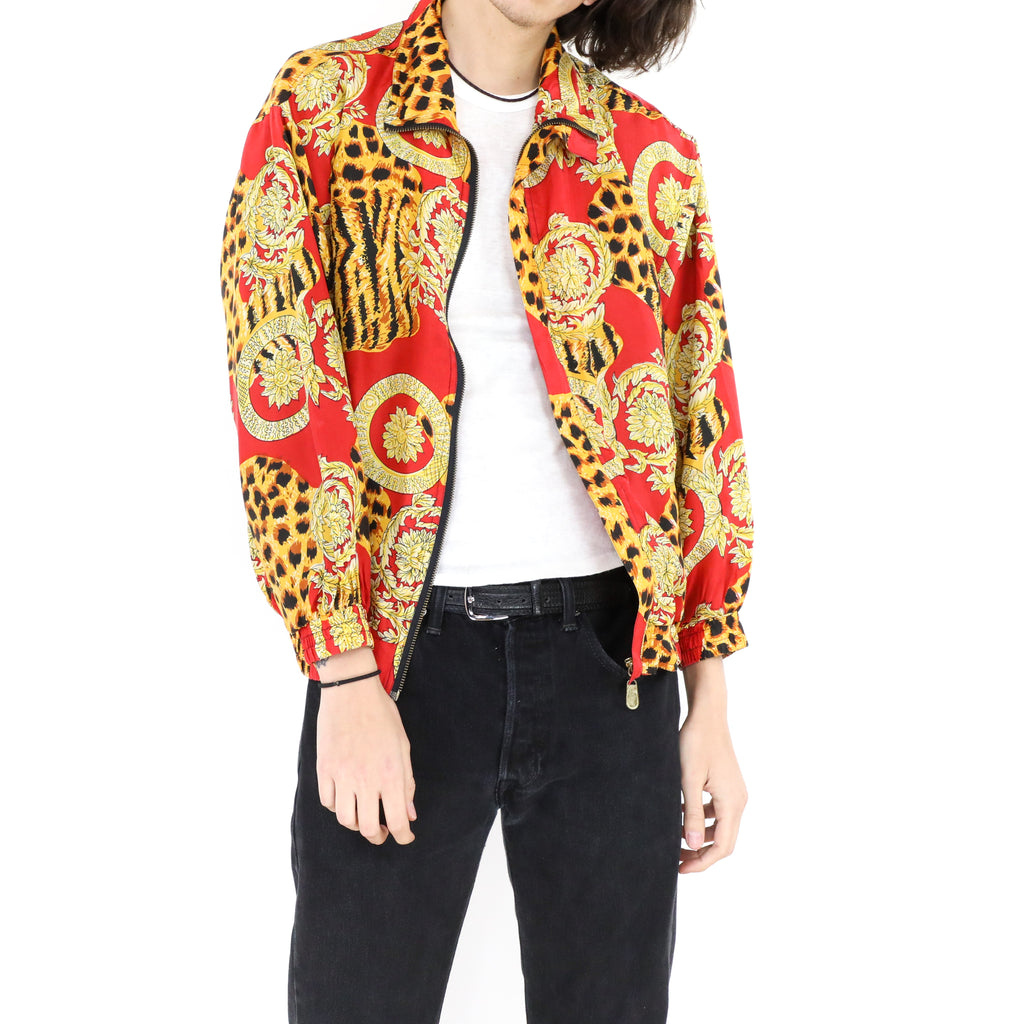 Red & Gold Bomber Jacket