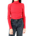 Red Turtleneck Blouse
