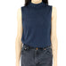 Dark Glittery Blue Sleeveless Blouse