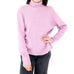 Long Sleeve Pink Turtle Neck Blouse