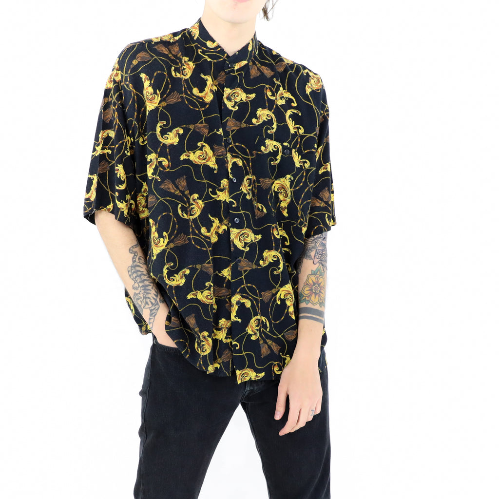Black & Gold Ornamental Shirt