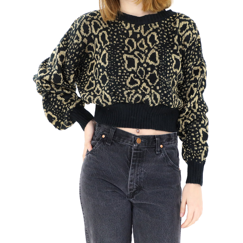 Black & Gold Glitter Sweater