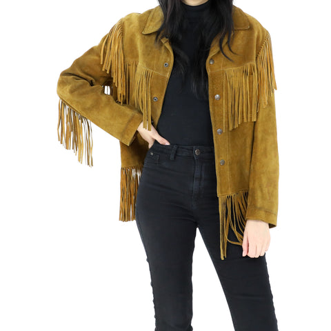 Goldenrod Fringe Jacket