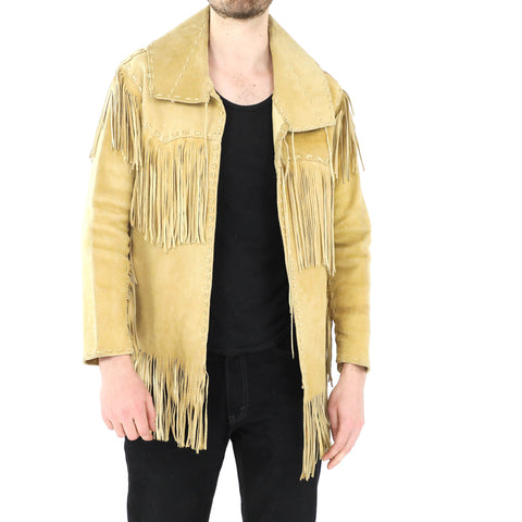 Cream Fringe Jacket