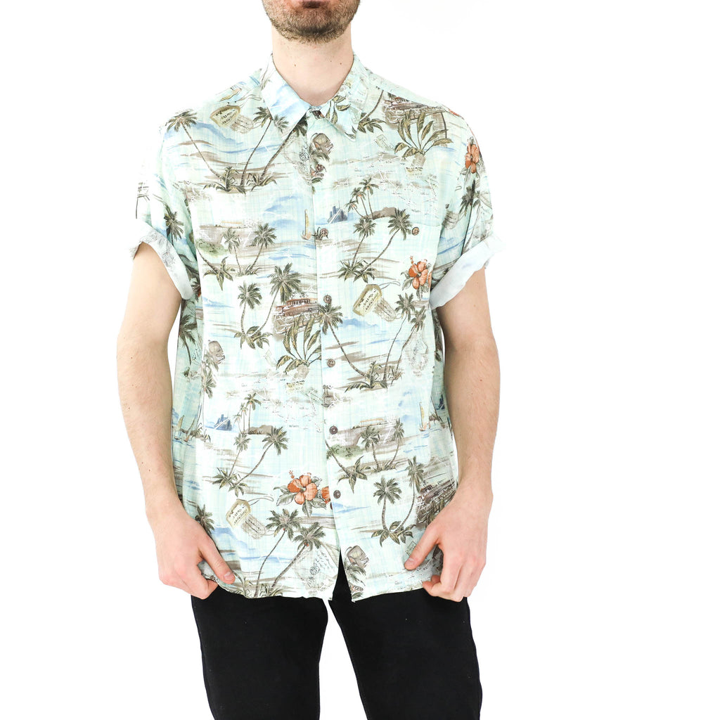 Baby Blue Hawaiian Shirt