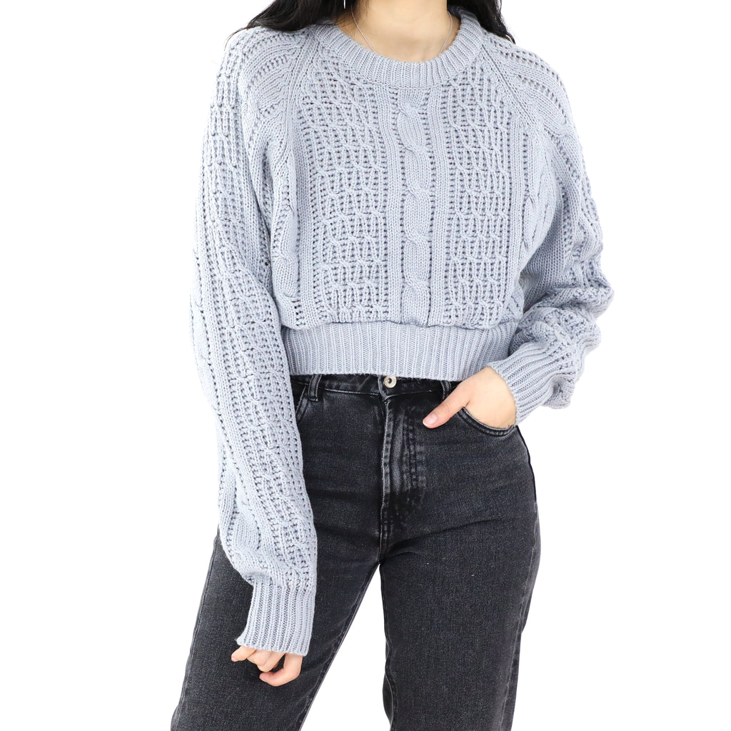 Light Gray Cropped Sweater