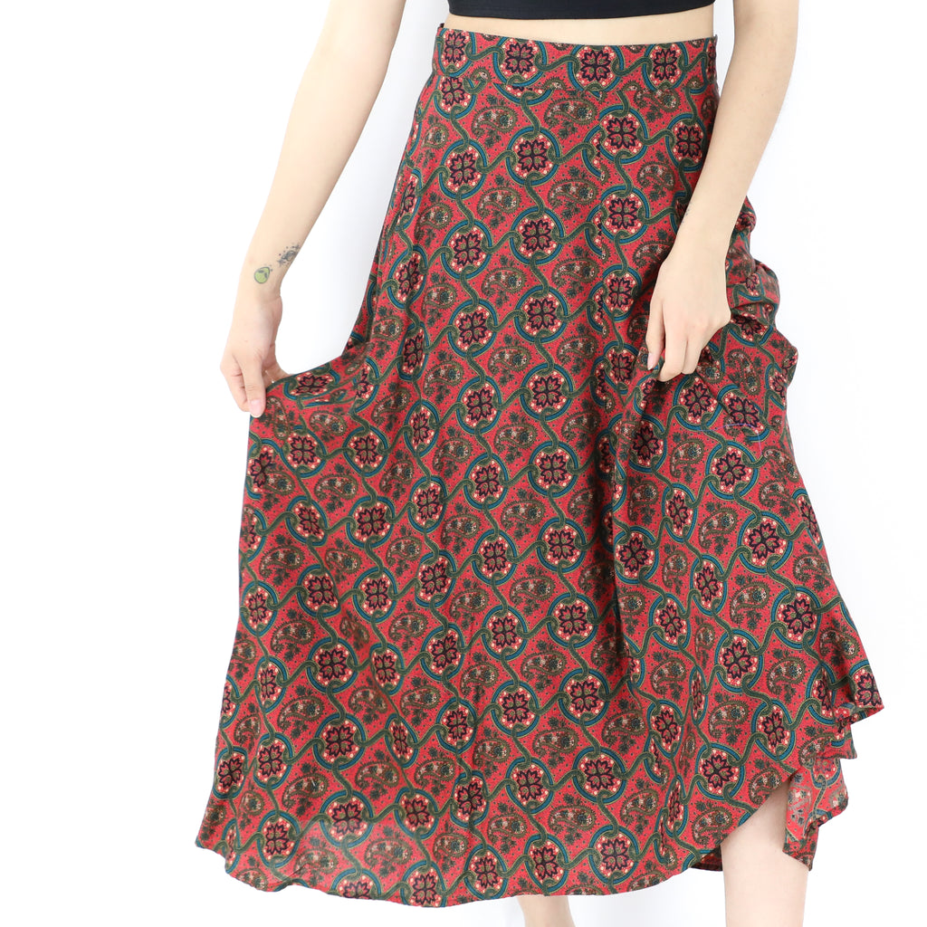 Indian Red Paisley Skirt