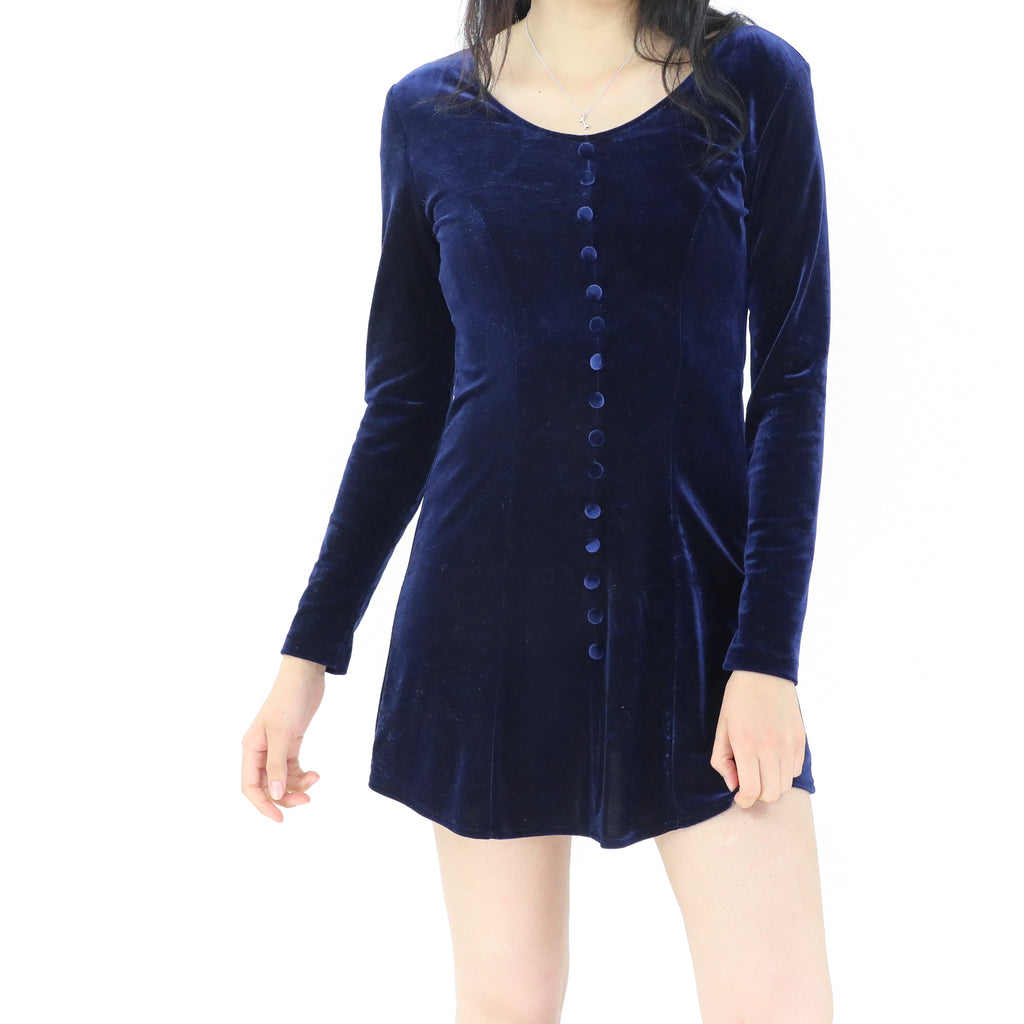 Delft Blue Velvet Dress