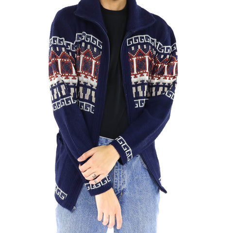 Midnight Blue Tribe Sweater
