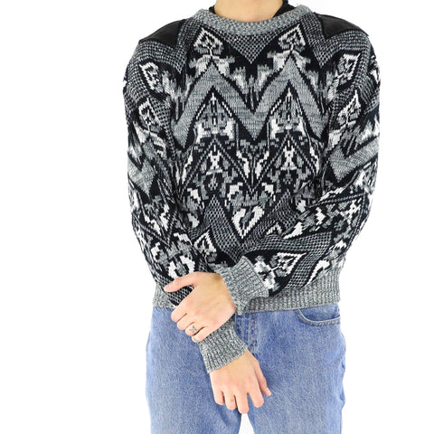 Black & White Knitted Sweater