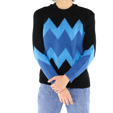 Persian Blue & Black Sweater