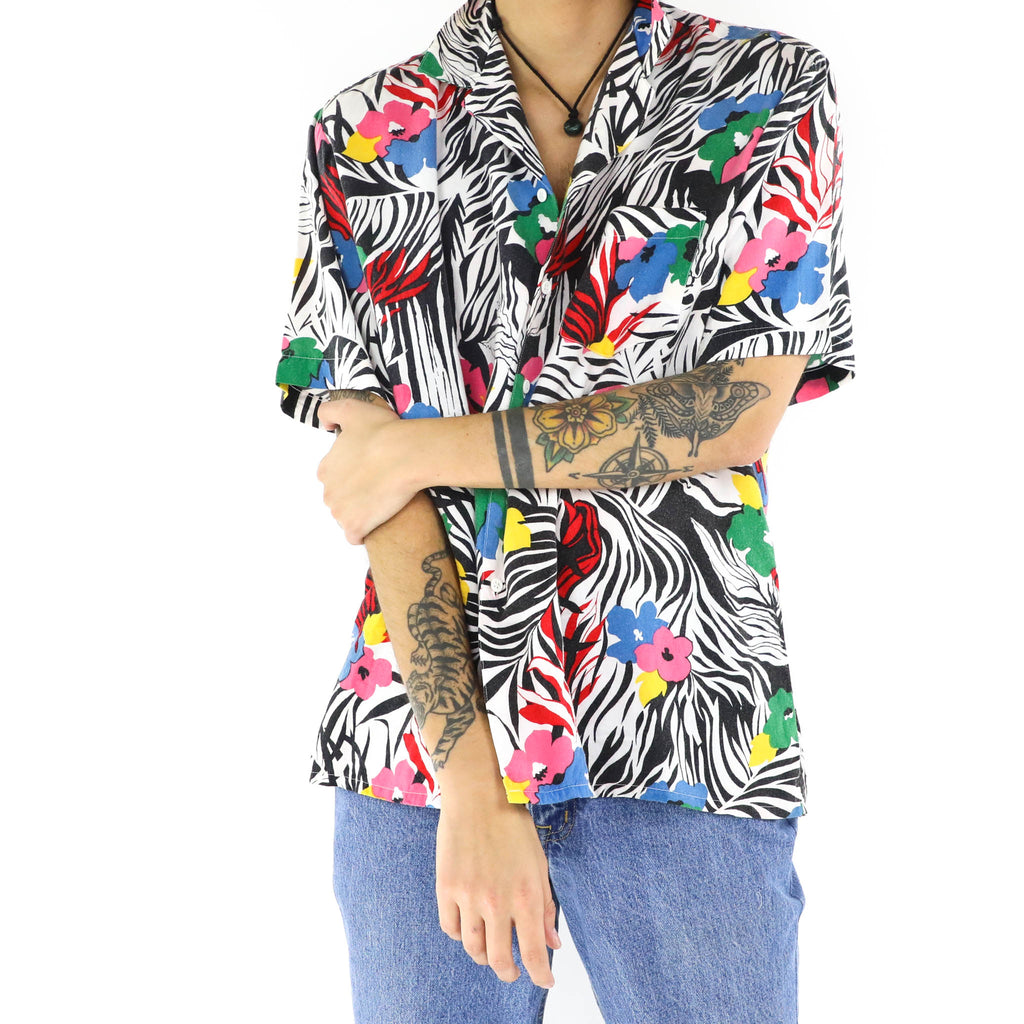 Tropical Zebra Pattern Shirt