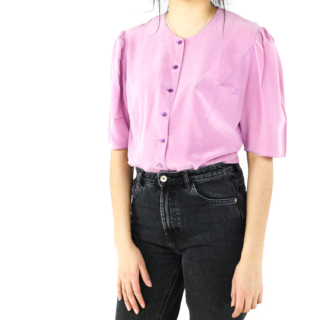 Silk Berry Blouse
