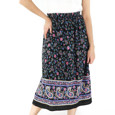 Flowers & Paisley Skirt