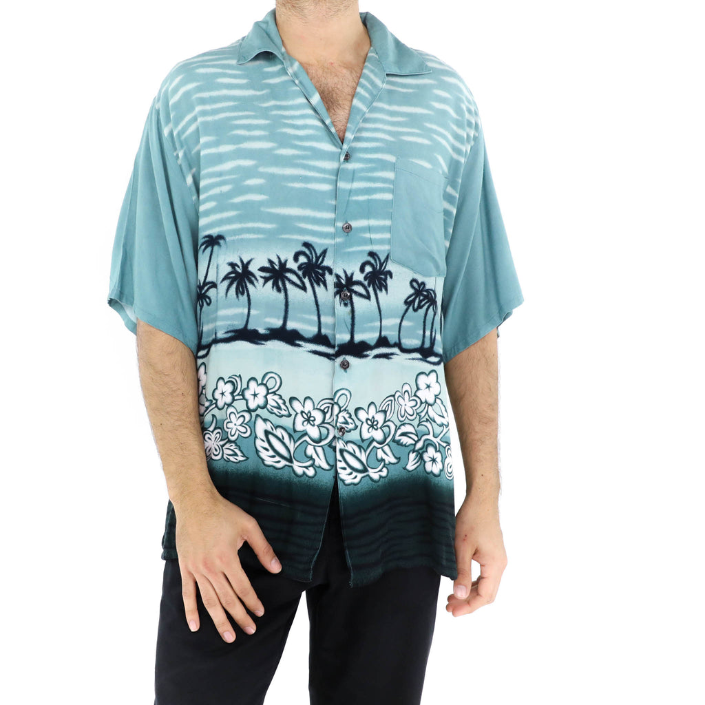 Non Photo Blue Tropical Shirt