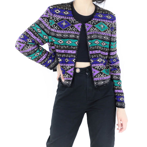Purple Sequin Bolero