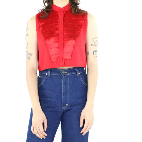 Red Panels Blouse