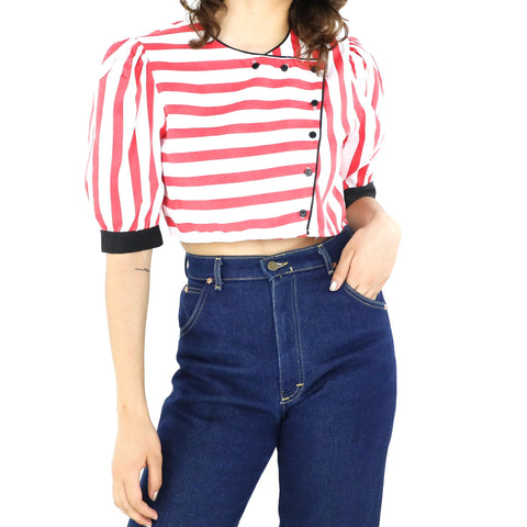 Candy Cane Striped Blouse