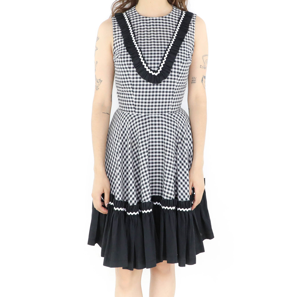 Black & White Plaid Fantasy Dress