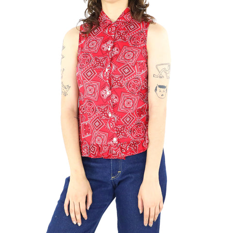Crimson Bandana Blouse