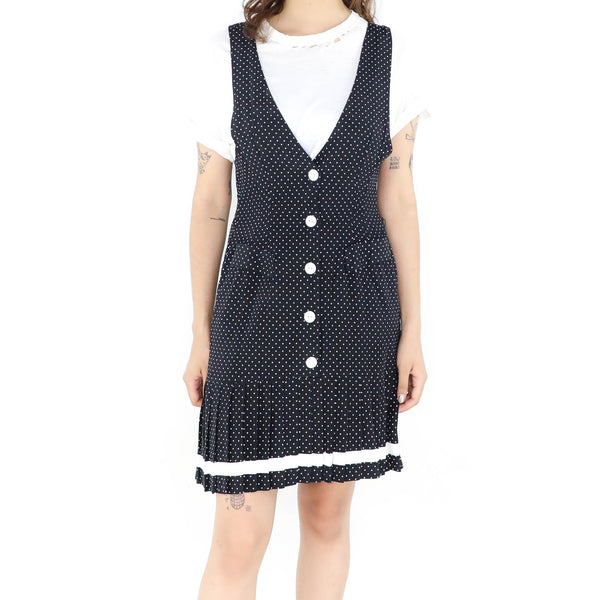 Cute Black & White Dotted Dress