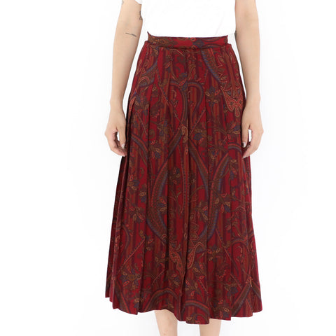 True Wine Long Skirt