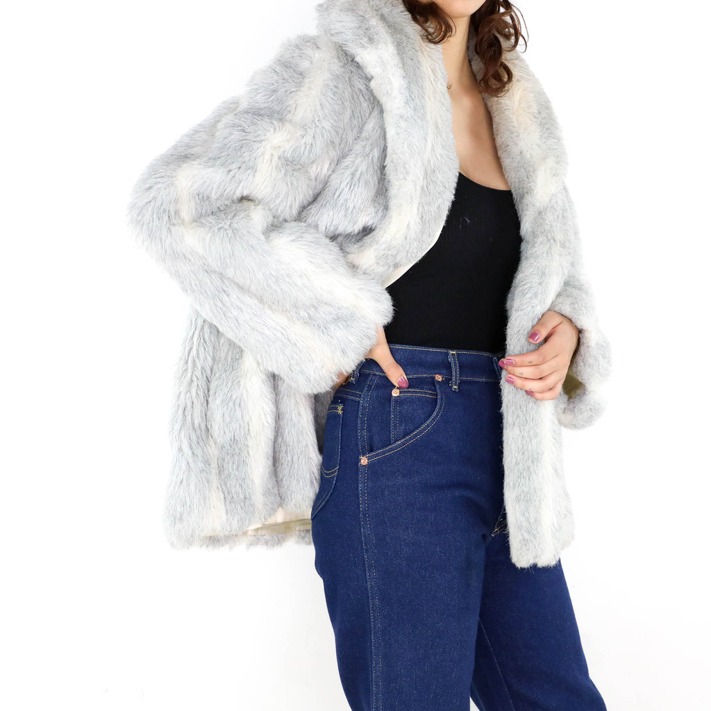 7511e0775cd9 Snow Faux Fur Coat. Images / 1 / 2 / 3 ...